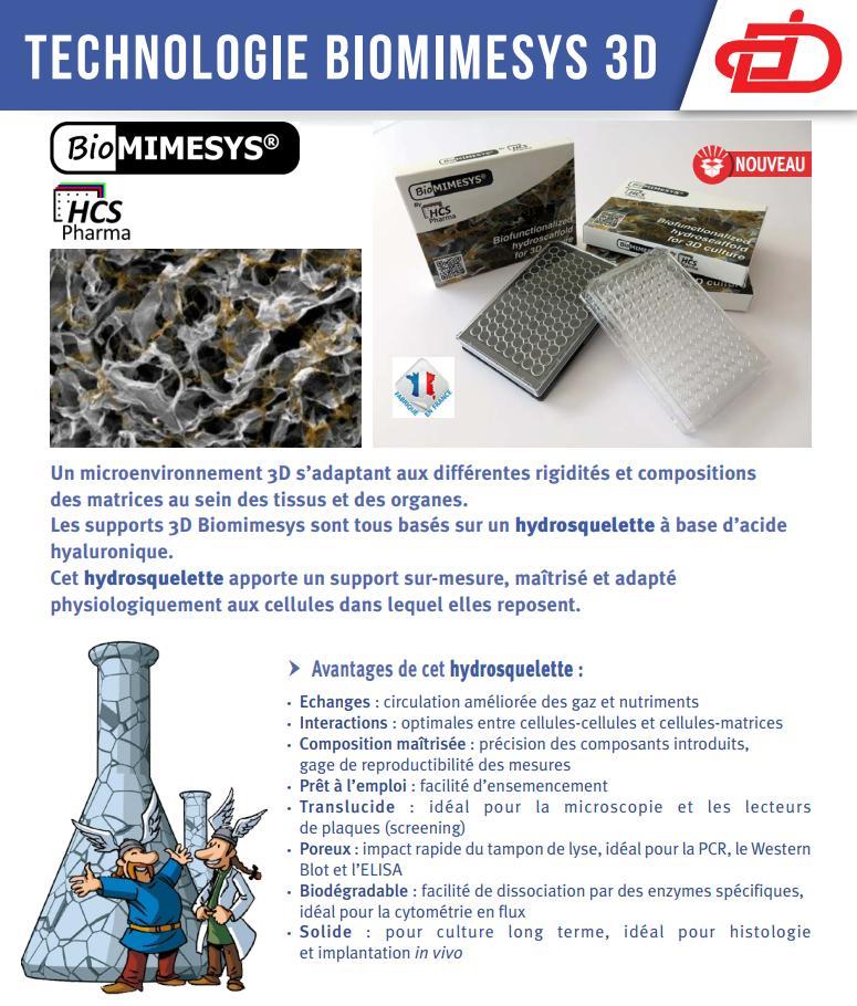 Technologie Biomimesys 3D - Dominique Dutscher SAS